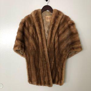 Accessories - Vintage Mink Fur Capelet Stole